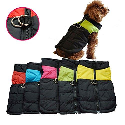 OULII Vêtements pour animaux de compagnie pour chien chat chiot chien manteau veste Ski pour animaux de compagnie gilet imperméable...