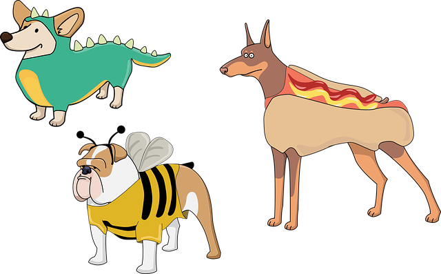 chien, chiots, costume