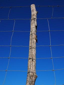post, pile, clôture