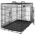 FEANDREA Cage pour Chiens, 2 Portes, Pliable, Transportable, avec Poignées et Plateau, Format XXL 122 x 76 x 81 cm...