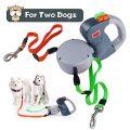 Laisse pour chien rétractable, extensible Laisse double pour chien Non enchevêtrement Laisse en laisse double pour chien de compagnie 10...