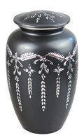 Love to Treasure Amour au trésor Grande Aluminium Gris Ardoise et Argent Vintage Urne funéraire pour Adulte ou pour Animal...