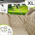 Meadowlark® Housse de siège pour chien voiture XL Beige universelle Imperméable! Protection complète banquette arrière vehicule + portières + 2...