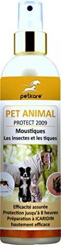 Peticare Anti-Parasitaire, Anti-Insectes, Anti-Moustique, Anti-Tique - Spray multi-répulsif pour le cheval, chien, chat et autres animaux, effet immédiat, testée par...