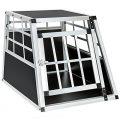 TecTake Cage Box Caisse de Transport pour Chien Mobile Aluminium - diverses Tailles au Choix - (Simple/Petit | No. 400548)